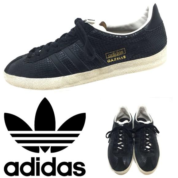 san francisco 0f1ea 469c5 adidas Shoes -  LOWEST  Adidas Gazelle Black Snake Sneakers 6.5